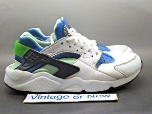 Nike Air Huarache Run Scream Green Running Shoes 2014 sz 10