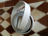 Dicklederriemen Trageriemen Fixierung Gürtel Gurtriemen LARP weiß 170 cm x 2 cm