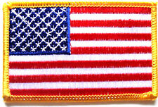 USA CLOTH PATCH United States of America iron on flag badge colour Stars Stripes