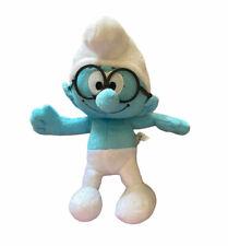 "SMURFS With glasses Soft Stuffed Plush Doll Toy 10"" Brainy Smurf nanco"