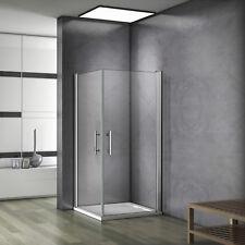 100x80x185cm Porte de douche pivotante pliante Cabine de douche accès d'angle