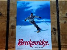 Vintage AUTOGRAPHED *BRECKENRIDGE* SKI Area SKIING Poster ~ Such Amazing Grace!