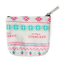 Women's Key Coin Holder Case Small Canvas Mini Purse Bag Lady's Zip Wallet Pouch