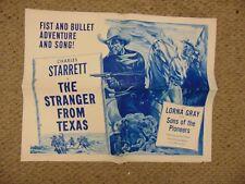 """Charles Starrett The Stranger From Texas Reissue 22x28"""" Movie Poster B2 #M8629"""