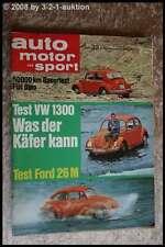AMS Auto Motor Sport 23/69 Fiat Dino VW Käfer 1300 Autobianchi A 112