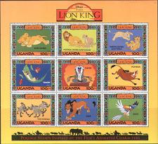 Uganda 1994 Re Leone Disney Cartoni Animati/CINEMA/FILM/Birds/Scimmia 9 V Sht 1 n15718