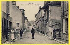 cpa RARE 89 - Village de COURSON (Yonne) Rue Conduisant aux CARRIÈRES Boulanger