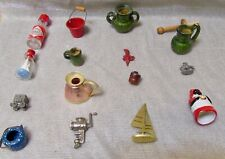 Miniature Doll House Accessories  (Lot of 37 Pieces)