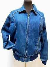 Vintage CHERYL TIEGS DENIM JEAN JACKET--Full Zip--Dark Wash--Women's Size M