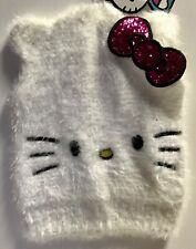 HELLO KITTY Knitted Winter Beanie Hat SEQIN Bow Accent NEW  Great Holiday Gift!