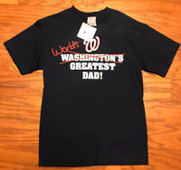 WASHINGTON NATIONALS WORLDS GREATEST DAD T SHIRT MENS LARGE GENUINE MLB BASEBALL