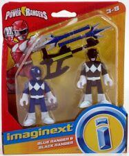 Fp Imaginext Power Rangers Blue Ranger & Black Ranger 3 inch Figures New