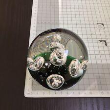 Paperweight / Briefbeschwerer Glas Kugel  Grün  9 cm