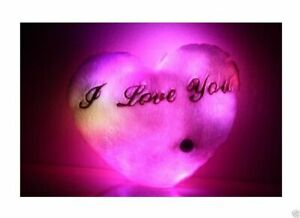 Love Heart Cushion Night Light,Lights Up With Different Colours, Mp3 Speaker