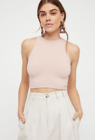 NEW Free People Intimately High Neck Seamless Top Pink XS/S-M/L 26.20