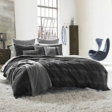 NEW! $170 Obsidian King Duvet By Kenneth Cole Reaction Home In Dark Grey