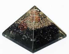 EXTRA LARGE (70-75mm) BLACK TOURMALINE ORGONE GEMSTONE PYRAMID X-LARGE ORGONITE
