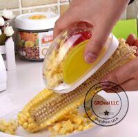 Household Corn Scraper Shaver Peeler Stripper Collector Cooking Kitchen Tool