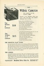 1898 Willsie Camera Ad Rockford Silver Plate Co. Illinois Early Photography
