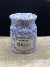 Vintage Burleigh Burgess Blue Chintz Ironstone Sugar Shaker-Frederick Rathbone
