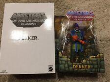 MASTERS OF THE UNIVERSE MOTU CLASSICS DEKKER MOSC w/ MAILER BOX