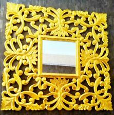 New Decorative Square Golden Antique Hand Crafted Wall Mirror Frame 90 x 90 cm