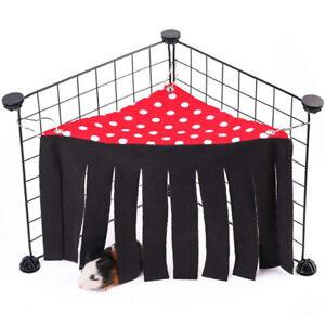 Triangle Guinea Pig Hanging Bed Hammock Ferret Pet House Red Tassel Corner Tent