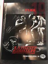 FRANKIE EDGAR AUTOGRAPHED signed UFC ULTIMATE FIGHTER POSTER + Mike King, Urbina
