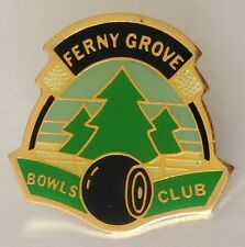 Ferny Grove Bowling Club Badge Rare Vintage (K8)