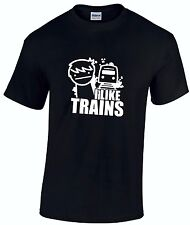 ASDF I LIKE TRAINS Internet Cult Cartoon Gamer Children's t-shirt *ALL AGES*