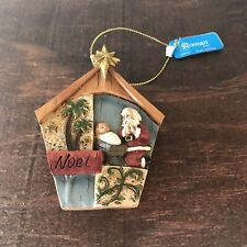 Roman Noel Nativity Santa Baby Jesus Christmas Ornament w/ Tag 2012