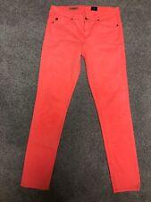 AG Jeans The Stilt Skinny Neon Orange Coral Jeans Pants Sz 28 (II#1571)
