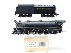 HO Scale IHC M623 C&O Chesapeake & Ohio 4-8-2 Steam Locomotive & Tender #543