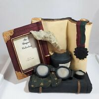 The Unique Collection Resin 2 x 3 Photo Holder with Desk Scene Vintage