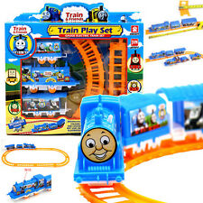 Electric Train Track Set Kids Children's Toy Train Model with Rail Way Xmas Gift