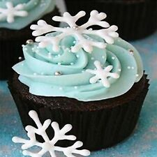 3pcs Snowflake Fondant Cake Decorating Sugarcraft Cutter Plunger Mold Mould