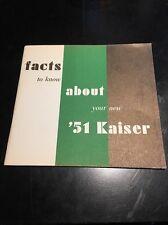1951 Kaiser Owner's Manual