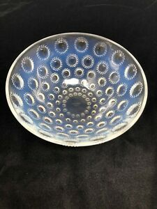 Rene Lalique France Asters Opalescent Glass Bowl 8""
