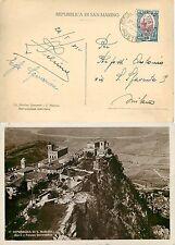San Marino - 10 cent Vedute su cartolina per Milano, 27/08/1936