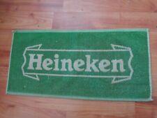 RARE VINTAGE HEINEKEN - PUB BAR BEER TOWEL BREWERIANA MAN CAVE
