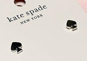 NEW Kate Spade Mini Silver Signature Spade Earrings