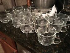 Vintage ARCOROC Fleur Punch Glasses Set of 10 Made in France Holiday Parties!