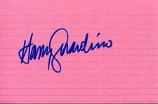 Harry Guardino Actor 1977 Ny Hilton Tv Movie Autographed Signed Index Card Entertainment Memorabilia