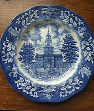 Vintage 1976 Avon Wedgwood Independence Hall Bicentennial Plate Made In England