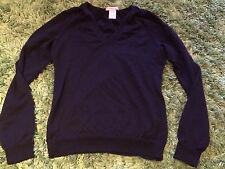 GAP Extra Fine Italian Merino Wool Ladies Mens Shirt Top Jumper Navy Blue 6 XXS