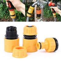 3Pcs Garden Plastic Hose Pipe Tap Quick Connector Conection Adapter Set Fitting