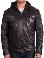 giacche da moto da uomo con cappucci neri