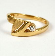 ANILLO DE DISEÑO EN 585 oro con brillante 0,02ct