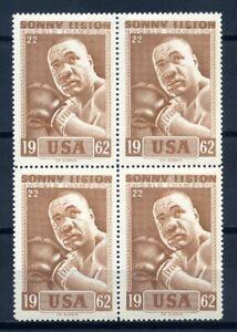 Slania, 1964  HEAVY WEIGHT BOXER WORLD CHAMPINS, SONNY LISTON, blok of 4, MNH.