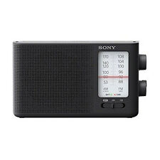 Nuevo Sony ICF-19 AM/FM Radio Portable Dual Band Analog Speaker Black Battery